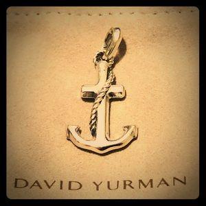 """David Yurman Maritime Anchor Pendant + 22"""" Chain"""